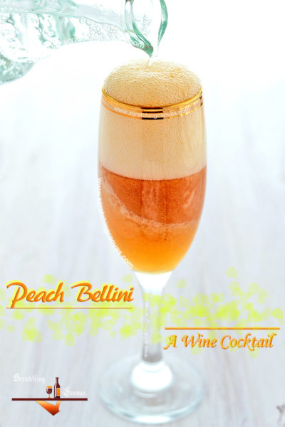 Fresh Peach Bellini Recipe Food Photorgaphy
