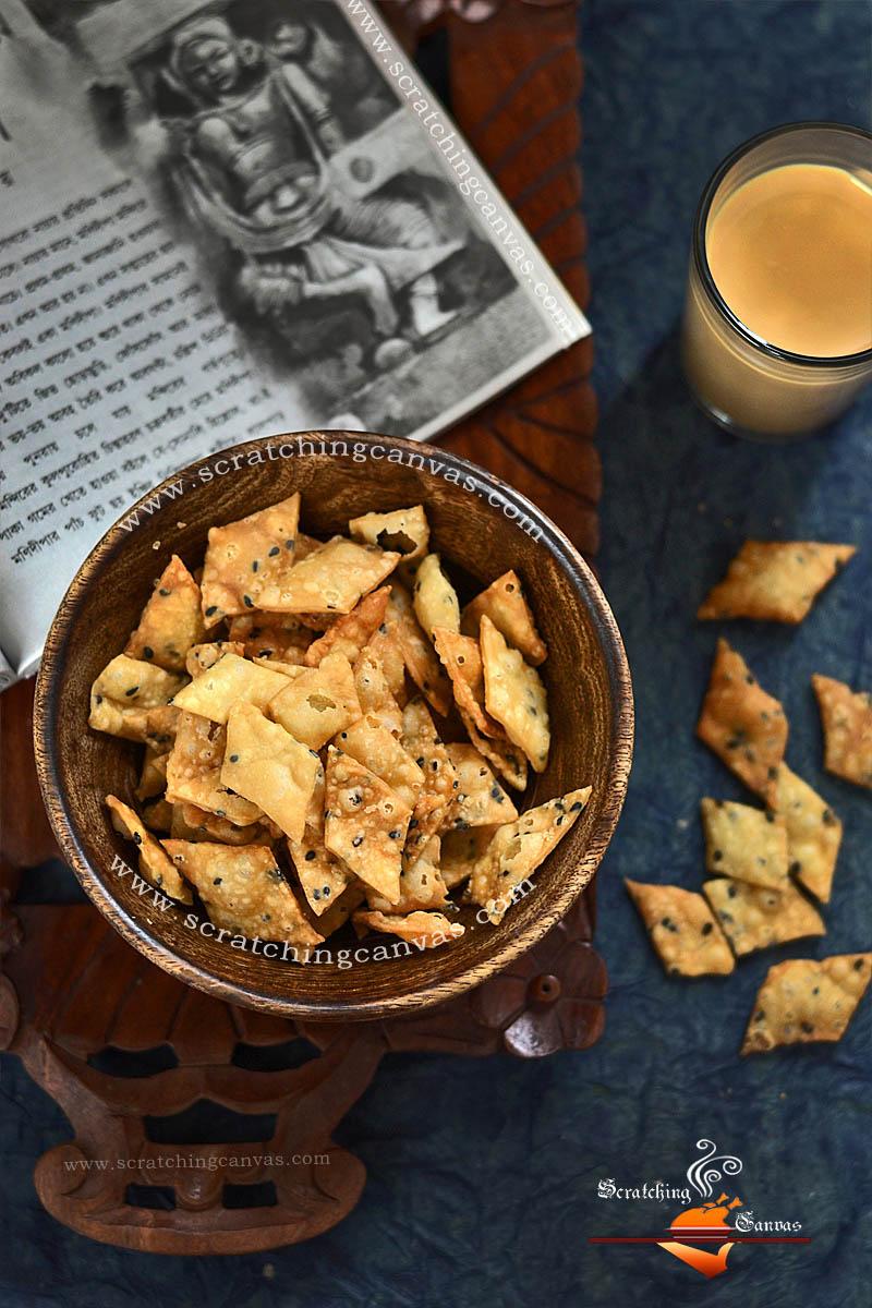 Bengali Kucho Nimki Recipe Food Photography