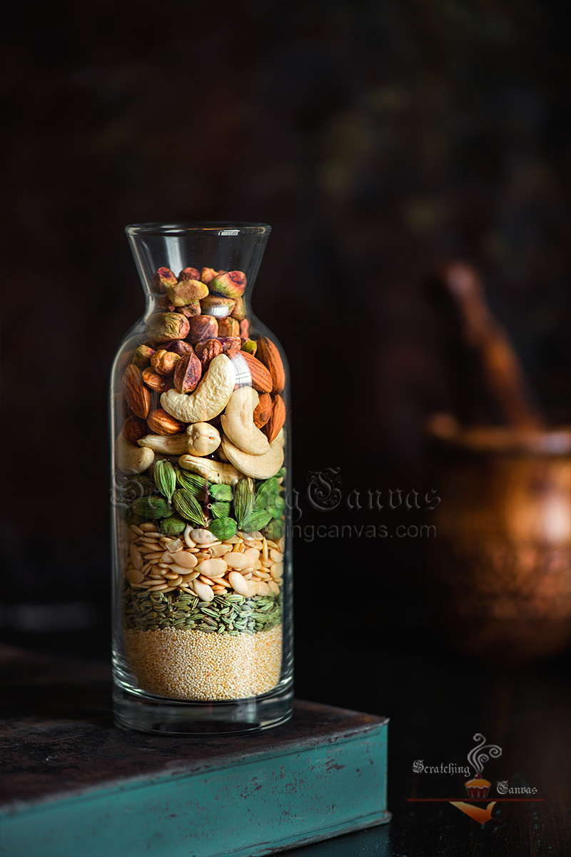 Thandai Masala Ingredients Food Photography Styling