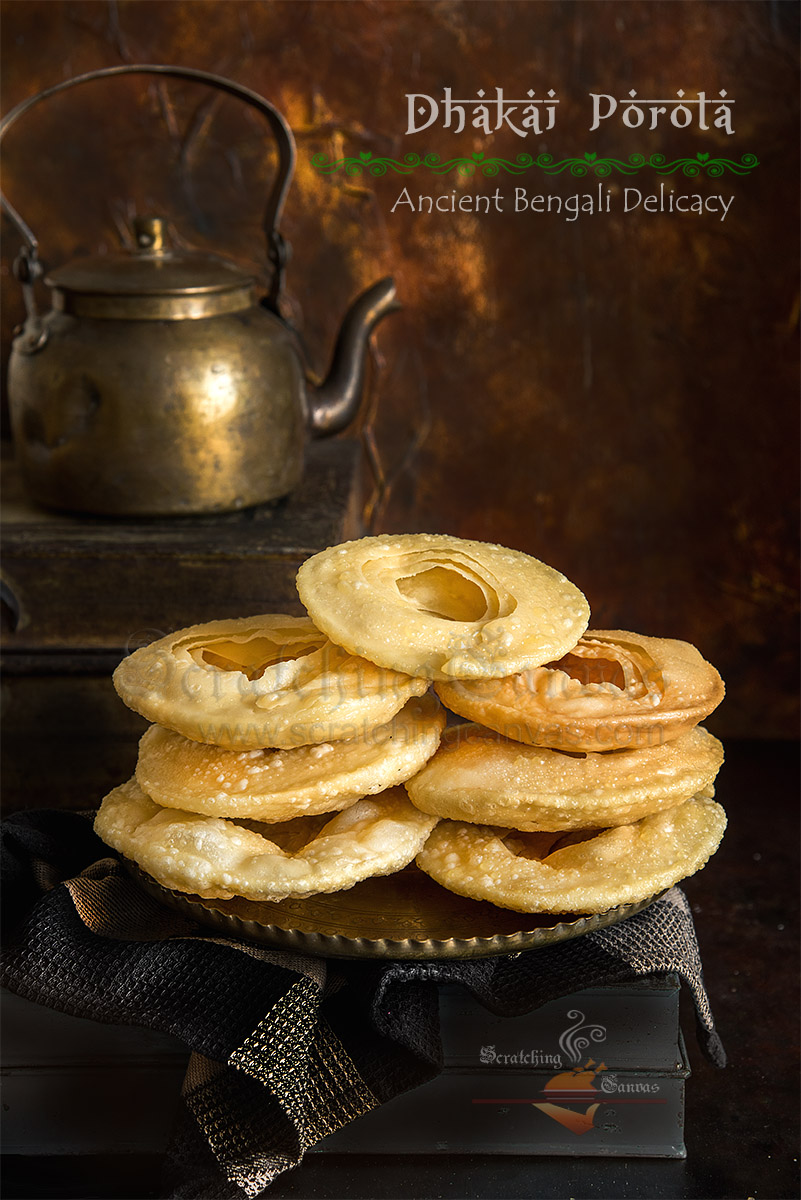 Original Dhakai Paratha Bengali Food Photography Styling
