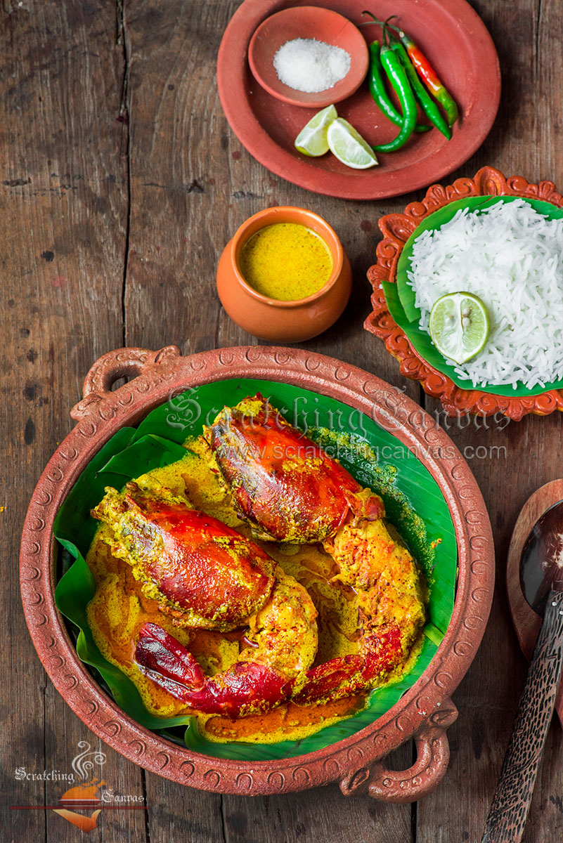 Bengali Shorshe Chingri Food Styling Photography - Scratching Canvas