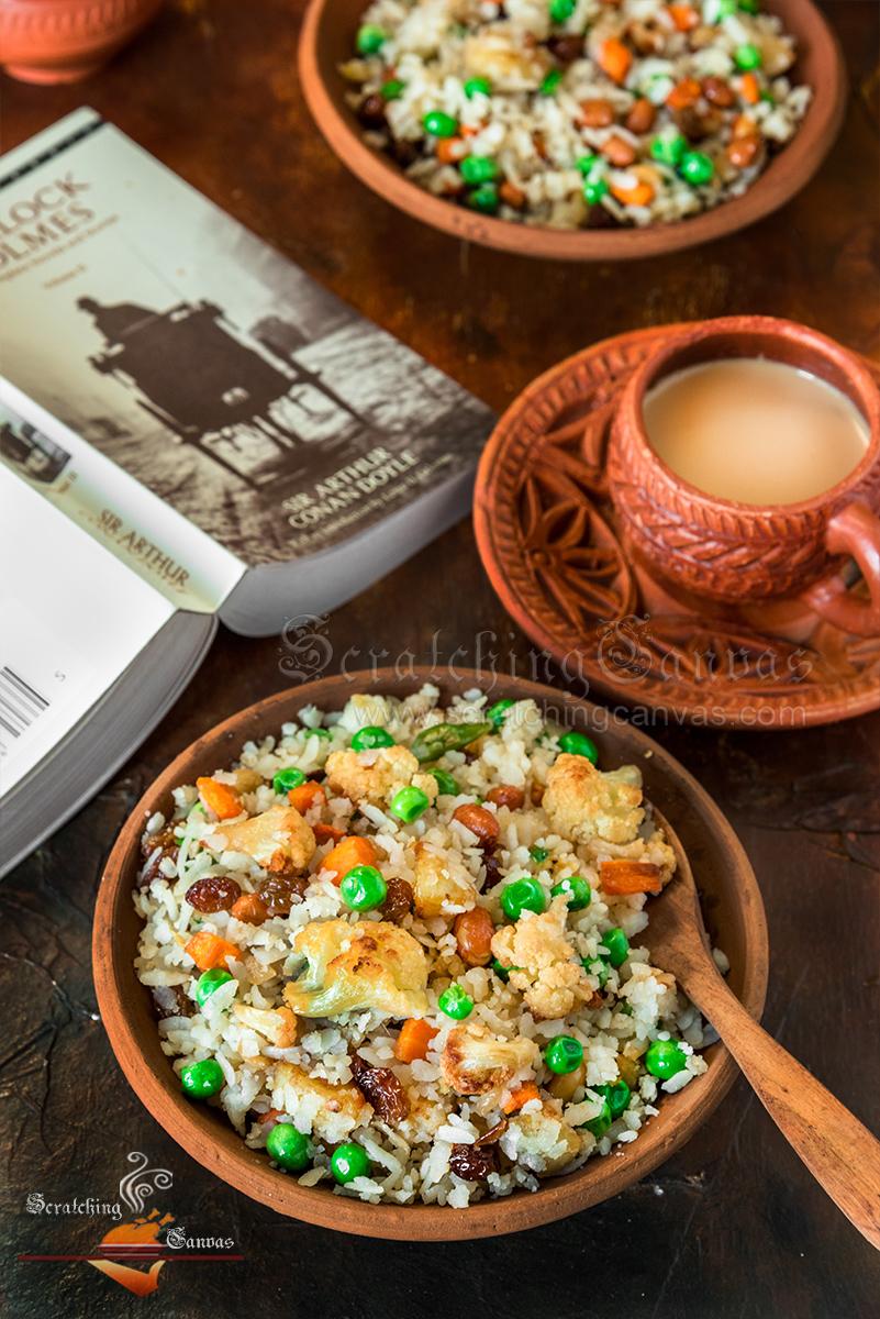 Bengali Chirar Polau Food Photography Styling